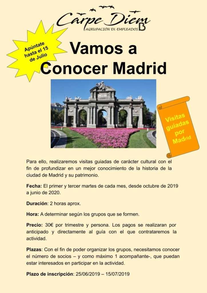 Nueva actividad «Vamos a conocer Madrid»